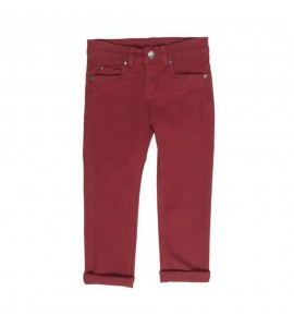 Pantalon largo burdeos UBS2