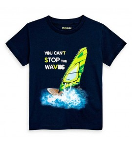 Camiseta manga corta waves niño Mayoral