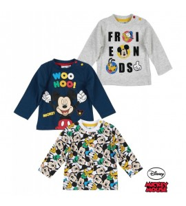 Camiseta Niño Mickey Manga Larga