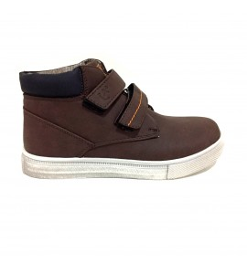 Botines Doble Velcro Niño Chocolate T32-35