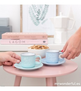 Set 2 Tazas ESPRESSO Mr Wonderful