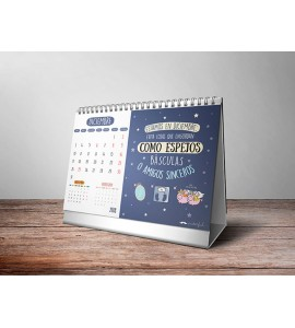 Calendario sobremesa con anillas Puterful