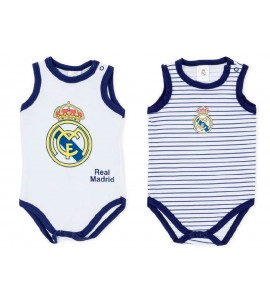 Pack Real Madrid 2 Bodys 3-12 Meses