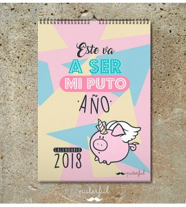 Calendario Pared 2018 Puterful