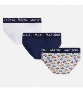 Set 3 slips estampados niño Mayoral