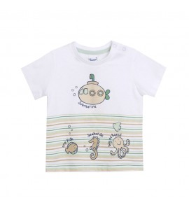 Camiseta Animales Mar NewNess Bebe Niño 6-24 Meses