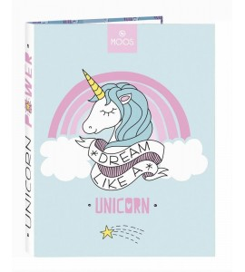 Carpeta folio 4 anillas Unicorn